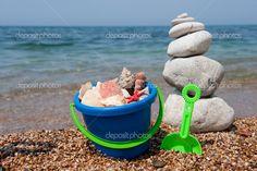 shells on the beach | Shells on the beach - Stock Image