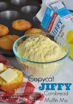 Copycat Jiffy Cornbread Muffin Mix Recipe- 5 ingredients to make cornbread muffin mix at home for pennies on the dollar.