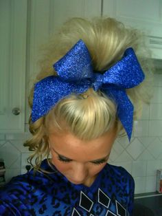 i want my cheer hair to look like this.