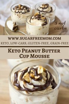 Sugar-Free Low Carb Peanut Butter Cup Mousse