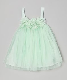 Take a look at this Mint Tulle Ruffle Dress - Toddler & Girls by Sweet Chics Couture on #zulily today!