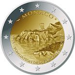 2 euro 800th Anniversary of the Construction of the first Fortress on the Rock 1215 - 2015 - Series: Commemorative 2 euro coins - Monaco