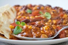 Vegetarisches Chili Chana Masala, Clean Eating, Brunch, Veggies, Food And Drink, Low Carb, Soup, Yummy Food, Dinner