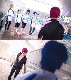 Free! Iwatobi Swim Club. No no. I don't want the cosplay. (Yes I do) I want the boys >.<