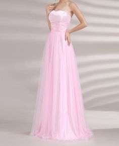 Refreshing Sweetheart Neck Ruched Waist Design Women's Lace Up Prom Dress (PINK,2) | Sammydress.com