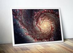 Whirlpool Galaxy Space Photo Wall Art  Stars by DareToDreamPrints