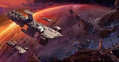 sciencefictionworld: Space Carrier by Peter Rossa....
