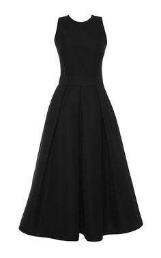 Navy Cotton Sleeveless Dress with Criss Cross Back by Martin Grant Now Available on Moda Operandi