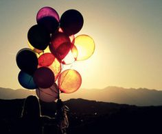 #photographyprop ballons in sunset