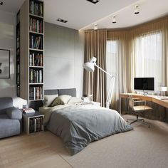 This inspiring apartment and the room bright eye. The Giant 1227 Floor Lamp. Designed by George Carwardine