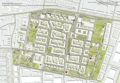 Bayernkaserne München 2014 Rang 2: Ammann Albers GmbH StadtWerke, Zürich; Studio Vulkan Landschaftsarchitektur, Zürich (ehemals Schweingruber Zulauf Landschaftsarchitekten)