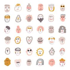 Icons Discover Your place to buy and sell all things handmade My friends Giclee Fine Art print Illustration - Print SALE - Buy 2 Get 1 Free Art And Illustration, Illustration Inspiration, Character Illustration, Food Illustrations, Carta Collage, Quirky Art, Flat Design, Cute Stickers, Prints For Sale