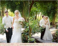 David's Bridal bride Fallon in a strapless lace gown with sweetheart neckline and coordinating veil by Melissa Sweet for David's Bridal for her romantic pink wedding.