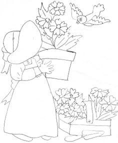 Quilt block pattern - original drawings of my sister's, Ellen Bounds.
