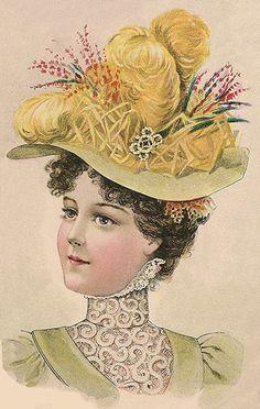 Ladies Carriage Hat August 1898
