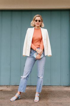 Perfect Spring Outfits From L.A.'s Chicest Shoe Designer via @WhoWhatWear