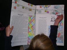 Reformation History Notebook: To make our History Notebooks, we use a large A3 spiral bound Art Diary.   We decided to separate the time-line from the writing and drawing pages so they