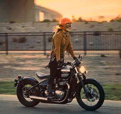 Rider Girl on Triumph