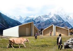 """Barberio Colella ARC unveils earthquake-relief housing that pops up in """"just a minute"""""""