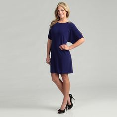 @Overstock - Embellished dolman sleeves highlight this stylish purple dress from Scarlett. With a light stretch, this dress is finished with a scoop neck and back button closure.http://www.overstock.com/Clothing-Shoes/Scarlett-Womens-Purple-Bead-embellished-Dress/6452552/product.html?CID=214117 $33.99