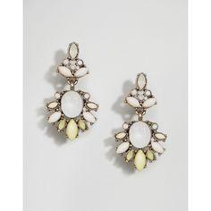 ASOS Flower Drop Earrings ($13) ❤ liked on Polyvore featuring jewelry, earrings, yellow, asos jewellery, asos, yellow drop earrings, bullet earrings and flower drop earrings