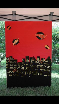 Incredibles Photo Backdrop used for my son's birthday! Incredibles Birthday Party, Superhero Birthday Party, 6th Birthday Parties, Birthday Fun, Birthday Ideas, Family Activities, Indoor Activities, Summer Activities, The Incredibles