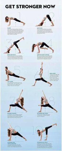 Yoga post on HOW TO GET STRONGER These yoga poses will help you get in shape and get stronger...