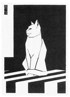 Maurits Cornelis Escher (1898 - 1972) - Chat blanc, 1919