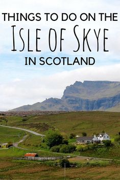 Is the Isle of Skye in Scotland on your bucket list? It's on mine! Check out these travel tips!