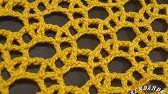 ponto de crochet rendado com argolas