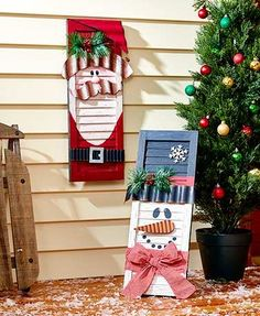 Guests will love being welcomed into your home with the delightful face on this Wooden Holiday Shutter. Each shutter is made to look like a friendly holiday character, adorned with metal accents, berries, pine needles and more. It has an easel back for p