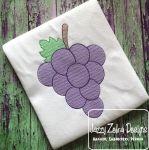 Grapes Color Sketch Embroidery Design