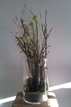 Spring and Easter - vase with ornithalgum and branches - www.bywillum.dk