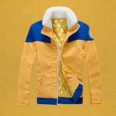 男性NARUTO  - ナルト - 冬のコートのためうずまきナルトコスプレ衣装
