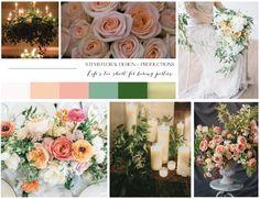 Wedding Inspiration | STEMS Floral Design | Mood Board | Vision Board | Austin Florist | Spring Wedding | Coral | Pink | Peach | Green | Garden Wedding
