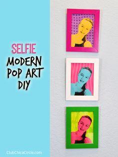Selfie Portrait Pop Art DIY by Club Chica Circle