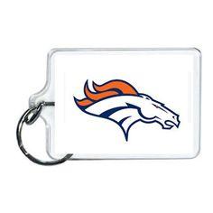 NFL Denver Broncos Acrylic Lucite Keychain 2 x 1| www.balligifts.com