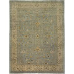 Shop for Ariel Blue/ Beige Traditional Design Hand-knotted Rug x - x Get free delivery On EVERYTHING* Overstock - Your Online Home Decor Store! Ariel, Classic Rugs, Light Blue Area Rug, Blue Bedding, Border Design, Room Rugs, Throw Rugs, Beige Area Rugs, Traditional Design