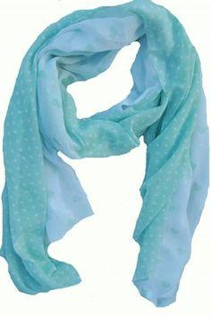 Tørklæde med hjerter - mintgrøn/hvid