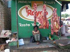 A meat market in Malawi. #Malawi #Africa