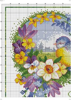 Gallery.ru / Фото #8 - 83 - kento Cross Stitch Bird, Cross Stitch Animals, Cross Stitch Flowers, Counted Cross Stitch Patterns, Cross Stitch Charts, Cross Stitching, Hand Embroidery Designs, Beaded Embroidery, Cross Stitch Embroidery