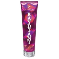"""RayDiant by Australian Gold. Save 65 Off!. $31.88. Warm Bronzing Complex. Regular - Tingle 40 - Bronzer - Lotion - 10 ounces * 18th Dimension Bronzer: * Ultra advanced bronzing technology  * Sustained color for up-to-8 days * Mahakanni Extract: * HeatWaveâ""""¢ Warming Complex: * UV-activated warming sensation.  * Fragrance: Forbidden Apple"""