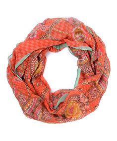 Love this Rose Fun Paisley Infinity Scarf by Oilily on #zulily! #zulilyfinds