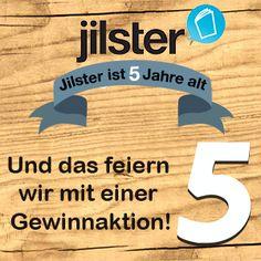 Möchtest Du einen €25,- Jilster-Gutschein gewinnen? Dann check jetzt unser Gewinnspiel auf www.jilster.de/5-jahre-jilster