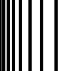 Here's how it works…  In the image below, a series of black lines are drawn on a surface. Each black line is the same width, but the amount of negative or white space between the lines increases from left to right. When enlarged, there is little to no gradation of value perceived from left to right.