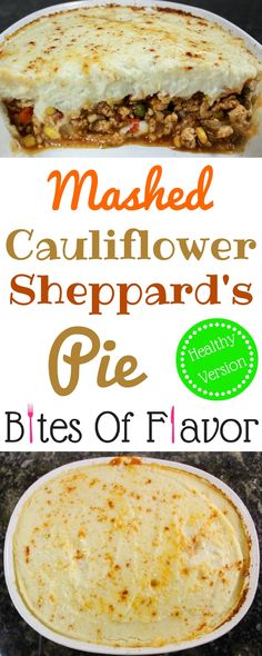 Mashed Cauliflower Sheppard's Pie- Guilt-free sheppard's pie with savory…