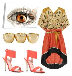 """Orange"" by clairedaisymay on Polyvore featuring Etro and Carvela Kurt Geiger"