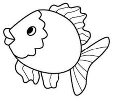 Fish Coloring Page For Kids 2