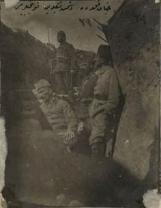 Ottoman Turkish Army Infantry in Trench World War Inch Reprint Photo 1 Martyrs' Day, Turkish Army, Last Battle, Army Infantry, Ottoman Empire, Historical Pictures, World War I, Wwi, Historian