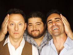 Michael Emerson, Jorge Garcia, and Nestor Carbonell goofing around in the EW photo booth at San Diego Comic-Con, July Series Movies, Tv Series, Serie Lost, Best Television Series, Lost Tv Show, Robert Duvall, Living Together, Evangeline Lilly, Im Lost